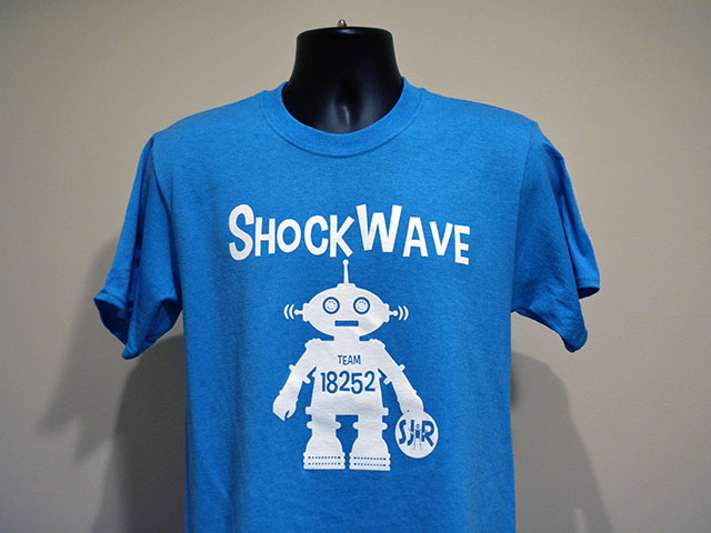 South Jersey Robotics FLL Team Shockwave T-shirt